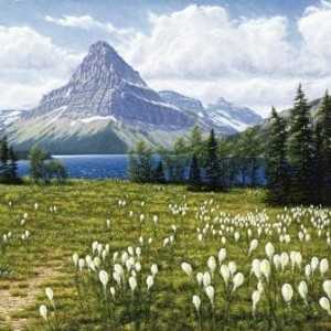 Beargrass at Two Medicine Lake in Glacier National Park, Montana