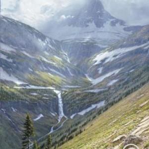 Storm at Logan Pass in Glacier National Park, Montana